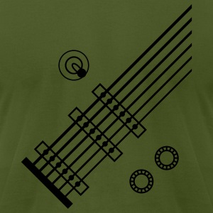 Olive 6 String Guitar T-Shirts - Men's T-Shirt by American Apparel