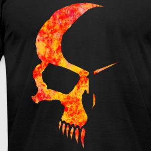 Black flamed skull T-Shirts - Men's T-Shirt by American Apparel