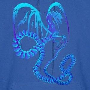 Electric Blue Dragon - Men's Hoodie