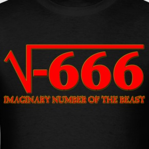 Imaginary Number of the Beast - Men's T-Shirt