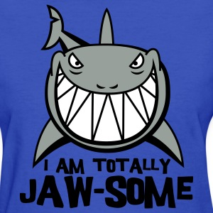 Light blue Totally Jawsome Shark Women's T-Shirts - Women's T-Shirt