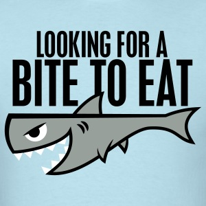 Sky blue Shark Shirt - Bite to Eat T-Shirts - Men's T-Shirt