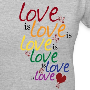Gray Love is love (Gay Marriage) Women's T-Shirts - Women's V-Neck T-Shirt