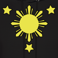Design ~ Men's Hoodie with 3 Stars and Sun