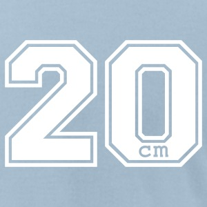 Light blue 20 centimeter T-Shirts - Men's T-Shirt by American Apparel