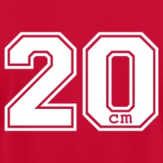 Red 20 centimeter T-Shirts