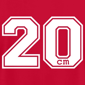 Red 20 centimeter T-Shirts - Men's T-Shirt by American Apparel