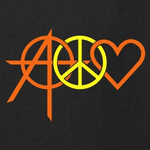 Black anarchy peace love (2c) Bags  - Eco-Friendly Cotton Tote