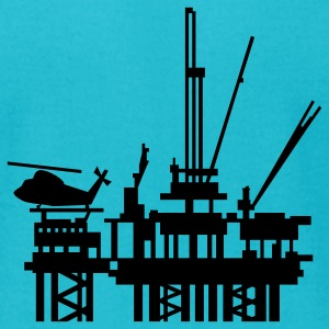 Turquoise offshore oil rig (1c) T-Shirts - Men's T-Shirt by American Apparel