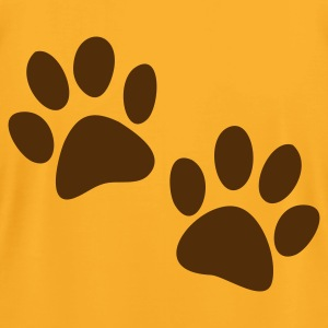 Gold cute catty cat paws one color T-Shirts - Men's T-Shirt by American Apparel