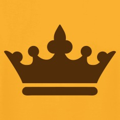 Gold simple royalty prince princess king queen crown T-Shirts