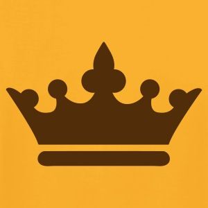 Gold simple royalty prince princess king queen crown T-Shirts - Men's T-Shirt by American Apparel
