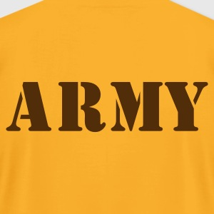 Gold army in stencil T-Shirts - Men's T-Shirt by American Apparel