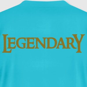 Turquoise legendary legend in funky gothic font T-Shirts - Men's T-Shirt by American Apparel