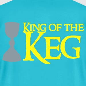 Turquoise king of the keg T-Shirts - Men's T-Shirt by American Apparel