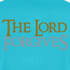 Turquoise the lord forgives wonderful Christian  T-Shirts