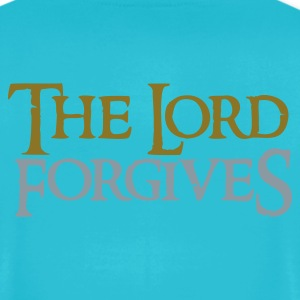 Turquoise the lord forgives wonderful Christian  T-Shirts - Men's T-Shirt by American Apparel