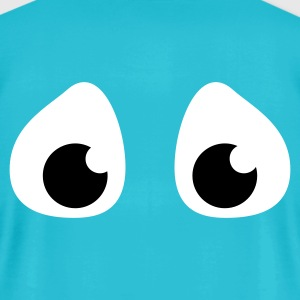 Turquoise pair of sad scared eyes T-Shirts - Men's T-Shirt by American Apparel