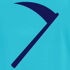 Turquoise HALLOWEEN death sickle scythe for the grim reaper T-Shirts - Men's T-Shirt by American Apparel