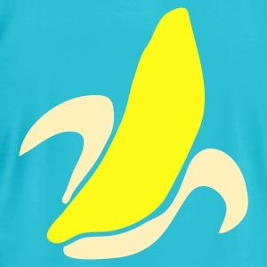 Turquoise banana shape or an ear corn T-Shirts - Men's T-Shirt by American Apparel