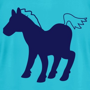 Turquoise SILVER PONY T-Shirts - Men's T-Shirt by American Apparel