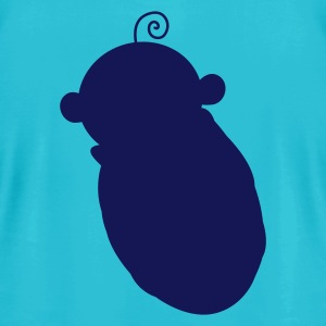 Turquoise baby shape T-Shirts - Men's T-Shirt by American Apparel