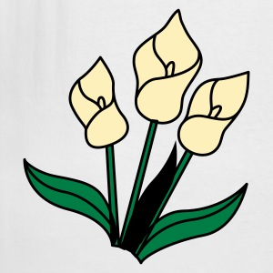 White white lily flowers for remembrance T-Shirts - Men's Tall T-Shirt