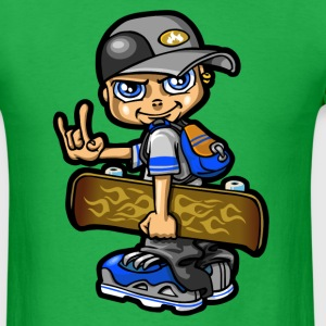 Skate boy and flame T-Shirts - Men's T-Shirt