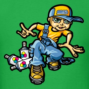 Graffiti boy and overall T-Shirts - Men's T-Shirt