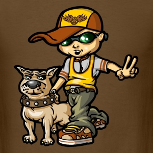 hip hop boy and his dog T-shirts - T-shirt pour hommes
