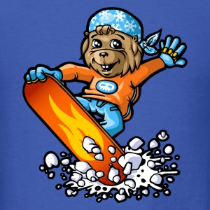 Marmot and snowflakes T-Shirts - Men's T-Shirt