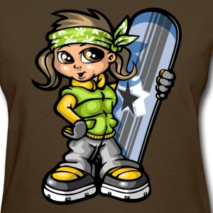 Snow girl and board T-shirts - T-shirt pour femmes
