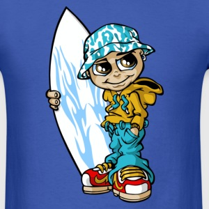 Surf boy and board T-Shirts - Men's T-Shirt