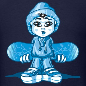 Snow boy and board T-Shirts - Men's T-Shirt