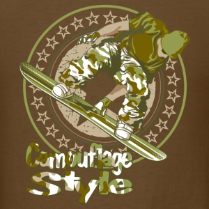 Snowboard Camouflage style T-Shirts - Men's T-Shirt