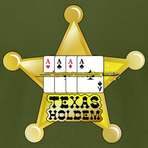 Olive texas holdem shooting star (DDP) T-Shirts - Men's T-Shirt by American Apparel