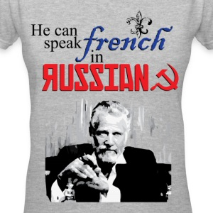 The Most Interesting Man In the World French in Russian Women's T-Shirts - Women's V-Neck T-Shirt
