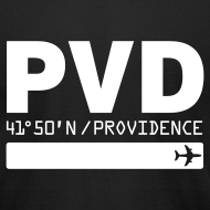 Design ~ Providence airport code United States  PVD  black t-shirt