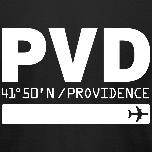 Providence airport code United States  PVD  black t-shirt