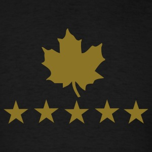 Black maple leaf T-Shirts - Men's T-Shirt