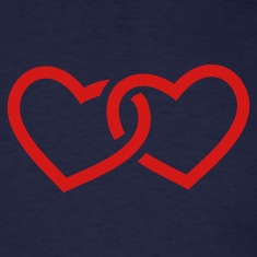 Navy Hearts T-Shirts