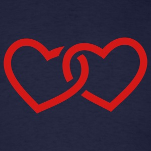 Navy Hearts T-Shirts - Men's T-Shirt