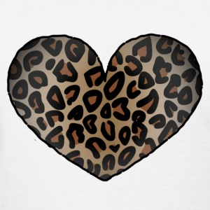 Leopard Heart - Women's T-Shirt