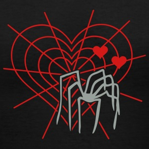 Black lovesick spider (2c) Women's T-Shirts - Women's V-Neck T-Shirt