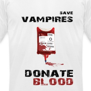 Save vampires Donate blood American Apparel slim fit shirt men - Men's T-Shirt by American Apparel
