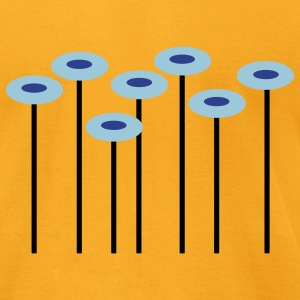 Gold Flowers T-Shirts - Men's T-Shirt by American Apparel
