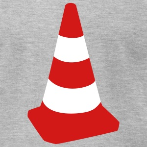 Heather grey Traffic cone T-Shirts - Men's T-Shirt by American Apparel