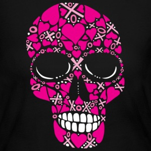 XOXO Forever - Skull Women's Long Sleeve Jersey Tee - Women's Long Sleeve Jersey T-Shirt