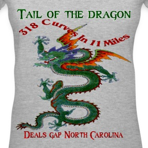 Tail Of The Dragon 4 Design Women's T-Shirts - Women's V-Neck T-Shirt