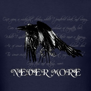 Navy The Raven - light bg text T-Shirts - Men's T-Shirt